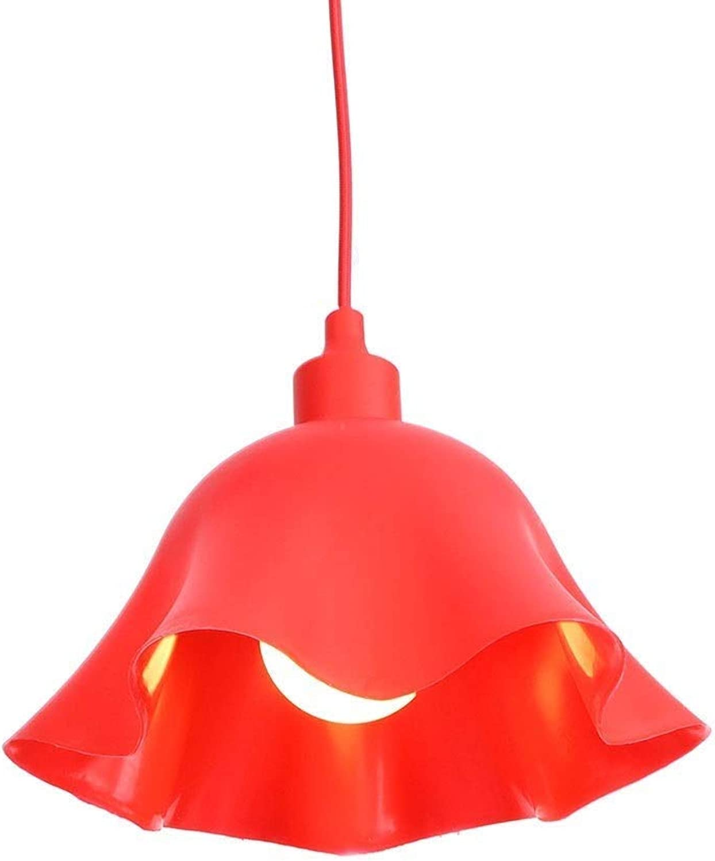 Hdmy Moderne Eisen Rot Blaumen Deckenpendelleuchte Kreative Einfachheit Faden Kronleuchter Für Restaurant Wohnzimmer Bar Cafe