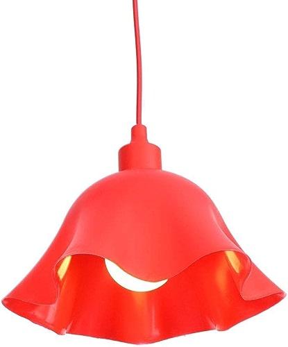 Hdmy Moderne En Fer Rouge Fleurs Plafonnier Lumière Créative Simplicité Fil Chandelier Pour Restaurant Salon Bar Café
