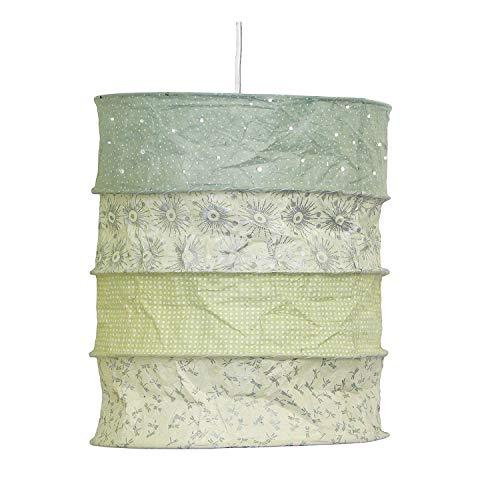 Lokta-lampenkap, Skagen pastel mint, lampenkap plafondlamp, handgekleurd papier voor de kinderkamer of woonkamer, cadeau-idee
