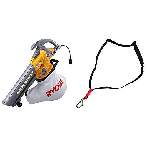 リョービ(RYOBI) ブロワバキューム RESV-1000 697200A & 肩掛けバンド ブロワバキューム RESV-1000他用 6075341【セット買い】