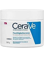 CeraVe Vochtinbrengende crème voor droge tot zeer droge huid, met 3 essentiële ceramiden en hyaluron 340 g.
