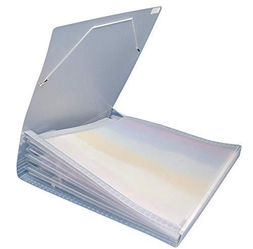 RAYHER 7870500 Fächertasche für Scrapbooking-Papiere, 33 x 33,5 cm, 7 Fächer