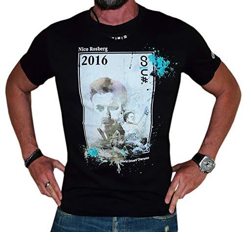 Unbekannt Mercedes AMG Petronas Formel 1 T-Shirt Top Hemd (Schwarz, XL)