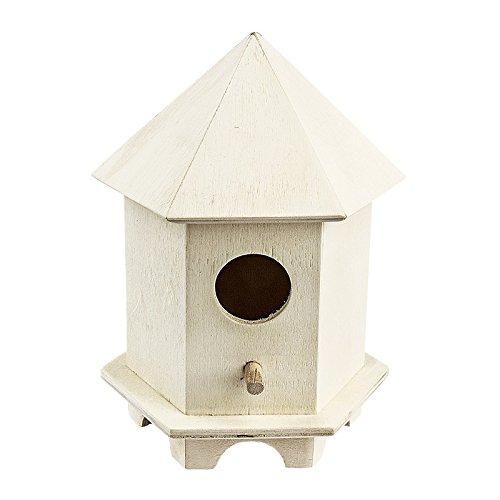 Nichoir à oiseaux en bois, modèle 4, 14,5 x 11 x 9,5 cm, décoration printanière pour la maison et le jardin, bricolage