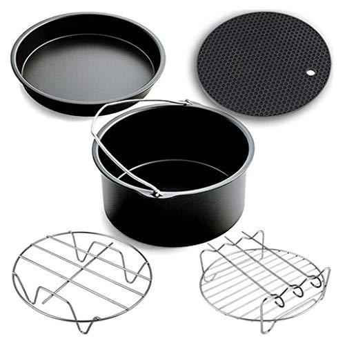 N/A. 9pcs/Set Home Kitchen 6/7/8 Pulgadas antiadherente Air Freidora Accesorios Kit,Pizza Bandeja Parrilla Tostada Rack Hogar