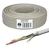 HB-DIGITAL 50m de cable telefónico 4 x 2 x 0.6 J-Y(ST) Y Cable de tendido JYSTY 8 hilos de cable telefónico