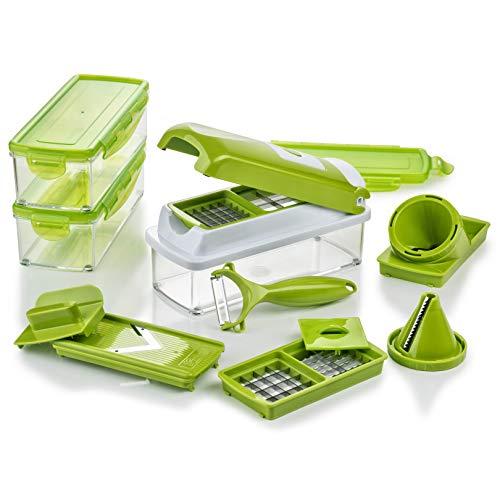 Genius Nicer Dicer Smart Julietti | 16 Teile | Gemüseschneider | Spiralschneider | Julienneschneider | Schneiden/Würfeln/Hobeln/Schälen/Juliennes | Mandoline | Zerkleinerer | NEU