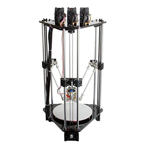 Aibecy Geeetech Rostock 301 mix Colore FDM 3D Stampante 3-in-1-out Triplo-colore Kit DIY con Ugello 0.4 mm Diametro di Filamento 1,75 mm