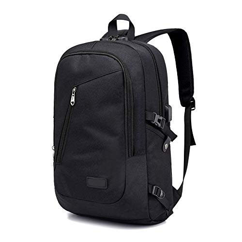 ZXYSR Anti-diefstal rugzak, anti-diefstal zakelijke laptop rugzak met USB opladen poort en hoofdtelefoonpoort met slot ultra-dunne waterdichte tas rugzak 15.6-inch computer rugzak