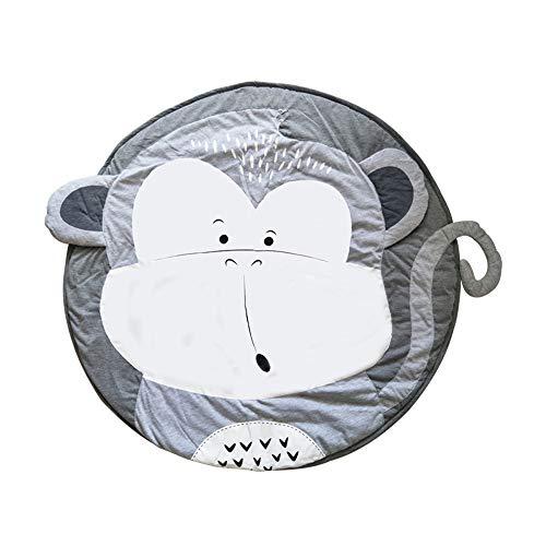 Baby Krabbeldecke Matt Kinderteppich Decke Spiel Matten Baumwolle 95cm Neugeborenes Schlafteppich (Affe)