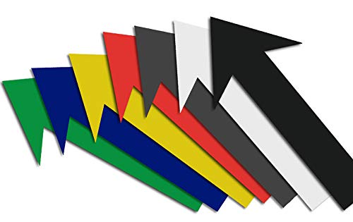 Magnetpfeile mehrfarbiges Sortiment 12 x 2 cm, beschreibbar, 7 Stück Foto Magnetfolie Pfeile Memoboard magnetisch KFZ Gutachten Hinweispfeil
