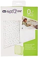 Chicco - Set de 2 sábanas bajeras ajustable para mini cuna 50 x 83 cm, color gris claro y estampado (Light Grey)