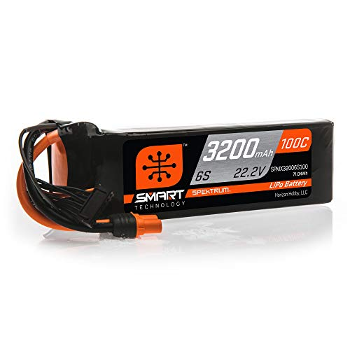 Spektrum 22.2V 3200mAh 6S 100C Smart LiPo Battery: IC5