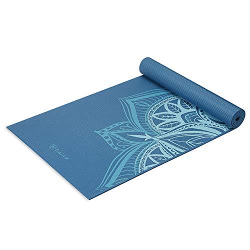 Gaiam Yoga Mat Premium Print Extra Thick Non Slip Exercise & Fitness...