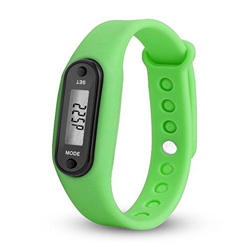 ACHICOO Stijlvolle Kleurrijke Run Stap Wandeling Horloge Waterdichte Stappenteller Armband Vervanging Polsband met Gesp voor Kinderen Vrouwen Mannen Outdoor Producten