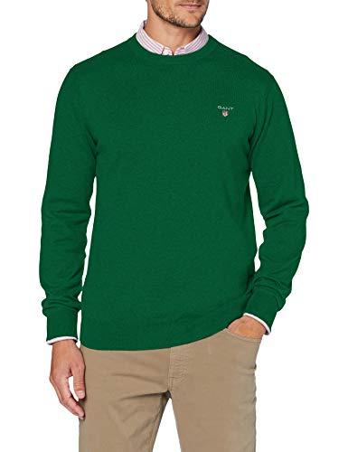 GANT Herren Cotton Wool Crew Pullover, Kelly Green, M