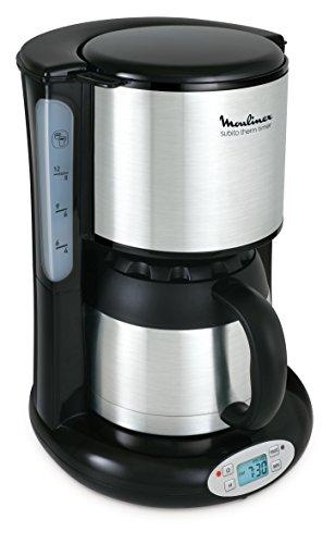 Moulinex FT3628 Thermo-digitaler Timer Kaffeemaschine Subito, 4 Programme, Isolierkanne, 0,9 L, edelstahl/matt schwarz
