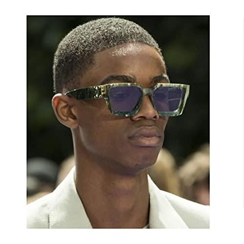 N/A Gafas de Sol para Hombre Gafas de Sol para Mujer Gafas de Sol Gafas de Sol cuadradas de Moda Gafas de Sol Retro con baño de Oro Doble