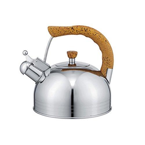 Lowest Price! YONGJUN Tea Kettle Stovetop Kettles Teapot Stainless Steel-Mirror Finsh,Bakelite Handl...