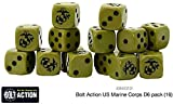 Bolt Action Warlord Games, US Marine Corps D6 (16) Dice