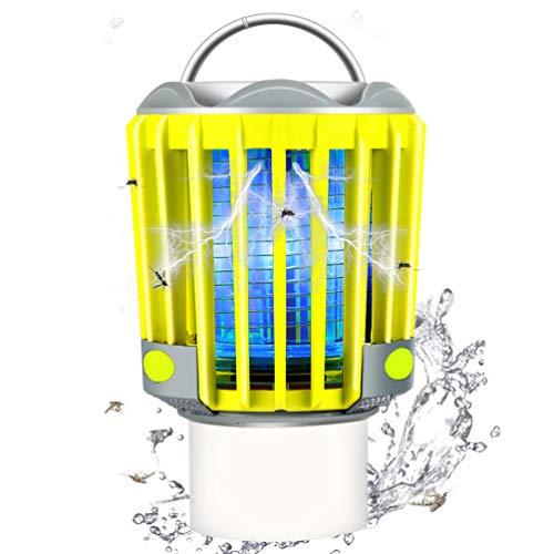 RUNACC Campinglampe LED Mückenlampe Laterne Moskitolampe Outdoor Wasserdicht IP66 mit 2200mAh Akku, Bug Zapper Mosquito Killer Taschelampe Insektenfänger Insektenvernichter (Grün)