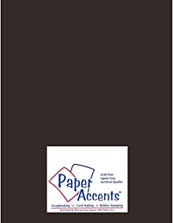 Accent Design Paper Accents Smooth 8.5x11 100# Black Suede
