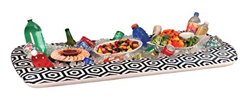 """Inflatable Buffet Cooler Tray For Parties – Food And Drink Ice Cooler Extra Large 52"""" x 28"""" Inch Server Pool Party Floating Picnic BBQ Indoor..."""