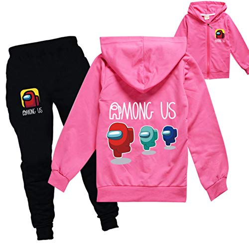 2-16Y Boys Among Us Anime Game Clothing Spring Autumn Kids Cartoon Clothing Sets Toddler Girls Jacket Jogger Pants Sportsuit
