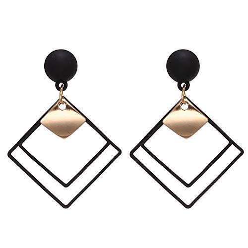 HUIJUNWENTI Nueva Perla de la Manera Pendientes de Gota for Las Mujeres Lote Oro/Plata Simple de Moda Sencilla la joyería Nupcial Pendiente cuelgan (Metal Color : E914hei)