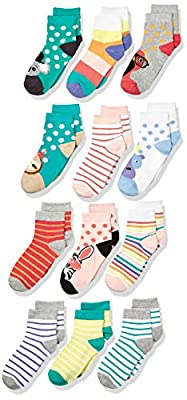 Spotted Zebra Kids Cotton Crew Socks