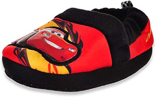 Disney Boy's Cars Slippers,Black/Red,9/10