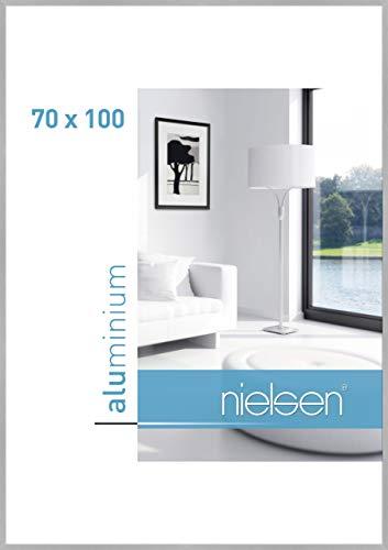 Nielsen Aluminium Bilderrahmen C2, 70x100 cm, Struktur Silber Matt