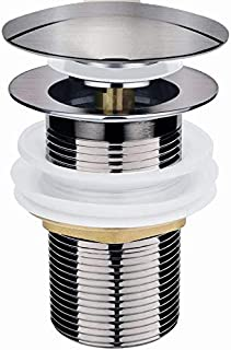 Universal Ablaufgarnitur für Waschbecken & Waschtisch Modernes Pop-Up Click Clack Waschbeckenstöpsel - Abflussgarnitur Ohne Überlauf
