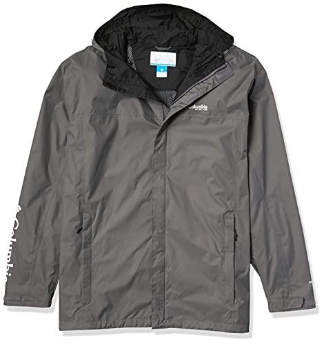 Columbia Men's PFG Storm Jacket, Waterproof & Breathable, City Grey/Black, 6X Big