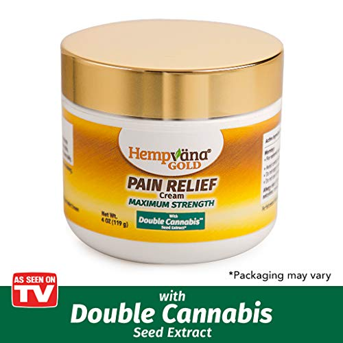 As Seen On TV Hempvana Gold Pain Cream with Double Cannabis Seed Extract Relieves Inflammation Review