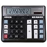 MTFZD Calculadora De Escritorio con Función Estándar Comercial, Calculadora De Pantalla LCD Grande De 12 Dígitos para Escuela, Oficina, Hogar, Mostrador De Tienda