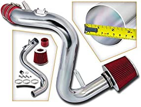 Rtunes Racing Cold Air Intake Kit + Filter Combo RED Compatible For 07-13 Mazda Mazdaspeed 3 2.3L L4 Turbo
