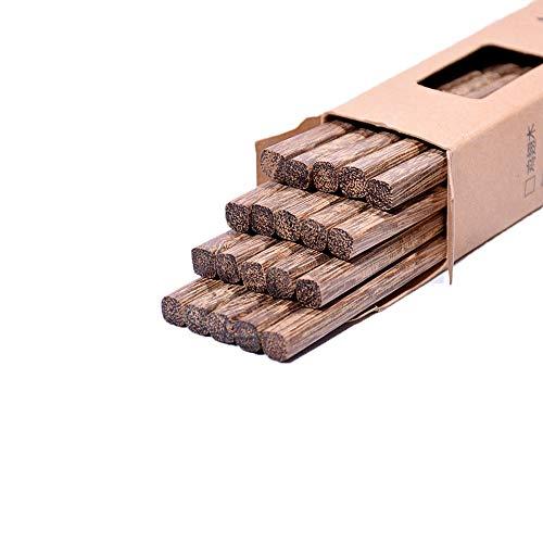 YUEMING 10 Pares Palillos Chinos, Palillos Naturales Reutilizables Lavables para Lavavajillas Palillos de Madera Set, Vajillas Chinos Palillos Japoneses para Sushi Cocina Asiática, Pescado