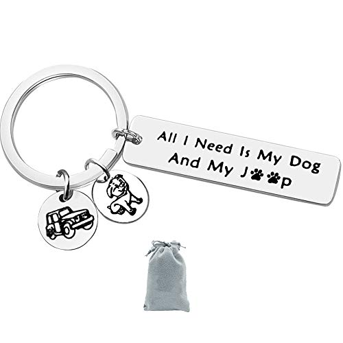 for Jeep Dog Lover Gift Keychain for Jeep Dog Jeep Mom Dad Life Keychain All I Need is My Dog and for My Jeep Keychain Keyring Jewelry Birthday Christmas Gift For Jeep Owner