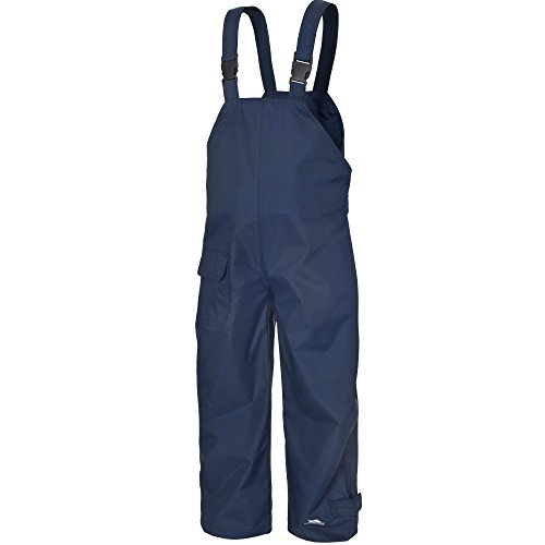 Trespass Kids Waterproof Dungarees RAIN Over Trousers (3-4 Years, Navy)