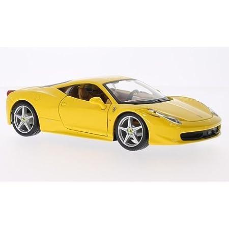 Ferrari 458 Italia Yellow Model Car Ready Made Bburago 1 24 Amazon De Spielzeug