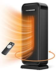 Fast & Efficient Heating: TaoTronics space heater quickly & evenly heat up an area in home or office. Compact size makes the electric heater ideal for indoor use such as office, desk, home, bedroom, living room, anywhere as you need Multiple Safety P...