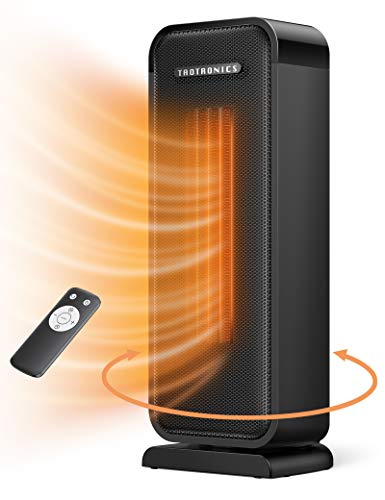 Taotronics TT-HE001 Space Heater, 1500W Electric Portable Fast Heating Widespread Oscillation ECO Mode 12 Hrs Timer with Remote Control for Indoor Use...