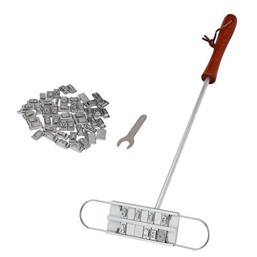 non-brand Grill Stempel BBQ Eisen Stempel mit auswechselbaren Buchstaben für Steak und Grillfleisch