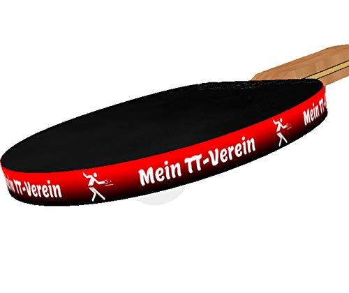 3 STK. Tischtennis Kantenband 12 mm mit eigenem Text & schwarz-rotem Verlauf