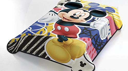 OEKO-TEX Manta Terciopelo Disney Modelo: Mickey Mouse, Color: ÚNICO, Medida: 160x220 (Ideal para Cama de 90cm.)