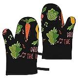 WSZOK BBQ Gloves Kitchen Oven Gloves,Oven Mitts Heat Resistant Grill Gloves Universal Size