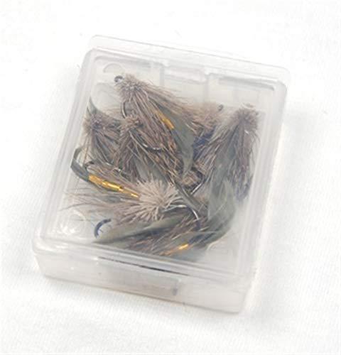 L-MEIQUN, 6PCS Brown Deer Haar Gold-Körper Muddler Elritze Forelle Fliegenfischen Streamer Fliegen # 6 (Farbe : Brown)
