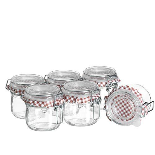 MÄSER Ermetico cristal de 200 ml en juego de 6, pequeños tarros...
