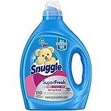 Snuggle Liquid Fabric Softener, SuperFresh Spring Burst, Eliminates Tough Odors, 150 Loads